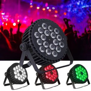 High Quality Aluminum Alloy LED Flat Par 18x18W 6in1 DJ Par DMX 512 Light DMX For Dj disco Party Lighting Stage Light