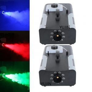 2X 1500 Watt Smoke Fog Machine 9 LED Lights Remote Control DJ Party Stage Fogger