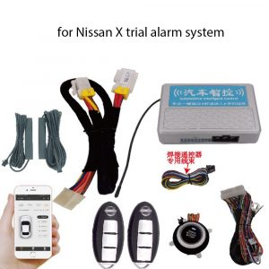 for Nissan X trial alarm system APP control One key to start comfortable and keyless access to mobile phone remote control car