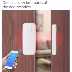Magnetic Sensor Wireless Door Window Alarm System For Home Security Wifi Door Open Switch Detector with Alexa Echo Google Home
