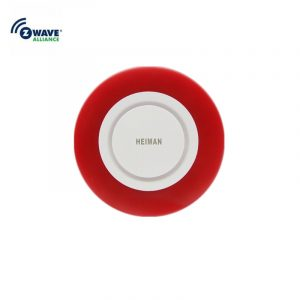 Heiman Nice Design Zwave Strobe flash Siren 95DB big sounds Alarm With EU or US Plug for option