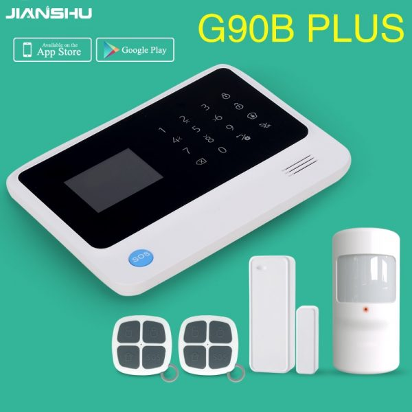 Free shipping from Russian Spain 3g gsm wifi alarm Android IOS mobile phone control smart home burglar alarm system
