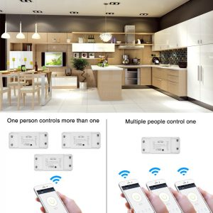 Scimagic Wifi Switch Wireless Remote DIY Automatic Light Smart Home Automation Relay Module Controller Work with Alexa