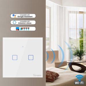 Sonoff T1 TX Smart Switch with 1/2/3 Gangs WiFi Panel Switch for Google Home Alexa Home Automation Smart Home Wifi Sensor EU&UK