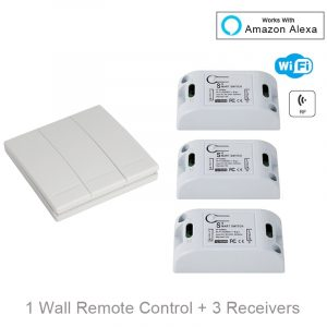 QIACHIP Smart Home Wifi Switch 10A 2200W 433Mhz Wireless RF Remote Control Switch For Alexa Google Home Timer Automation Module