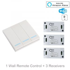 QIACHIP WiFi Smart Switch Wireless Remote Control Light Timer Relay Switches AC 110V 220V Home Automation Work With Amazon Alexa