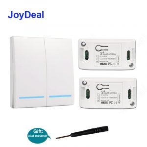 433Mhz Wireless RF 86 Wall Panel Transmitter AC 110V 220V Smart Remote Control Switch DIY Intelligent Home Automation Module