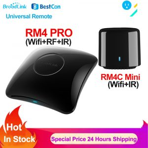Broadlink RM4 PRO BestCon RM4C Mini WIFI IR RF Universal Remote Smart Home Remote Controller Work with Alexa Google Home IFTTT